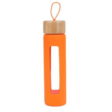 Wai Bamboo Loop glass water bottle
