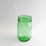 Clear Glass 8 inch straight Straw